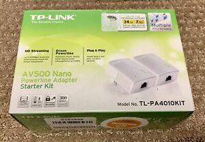 TP-LINK TL-PA4010KIT 300Mbps AV500 WiFi Powerline Extender Starter Kit