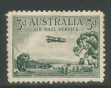 Australia 1929 Airplane over Outback Airmail-Attractive Topical (C1) Mh