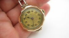 Art Deco 9ct Rose Gold Ladies Mechanical Watch & 9ct Gold Strap H/Mkd Glasgow