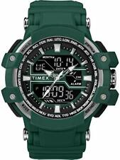 Timex Men's Tw5M22800 Tactic Big Combo 53mm Marine Green/Gray Resin Strap Watch