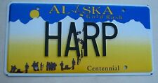 "ALASKA  VANITY LICENSE PLATE "" HARP "" MUSIC MUSICAL INSTRUMENT ANGEL ANGELIC"