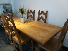Table á manger et ses 6 chaises en chêne