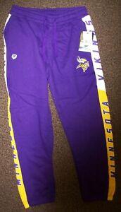 MINNESOTA VIKINGS Sweat Pants THICK with sewn VIKINGS Logo PURPLE       LARGE