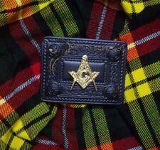 Highland Kilt Belt Buckle Masonic Jet Black Finish Celtic 4 Demo Belts Buckles