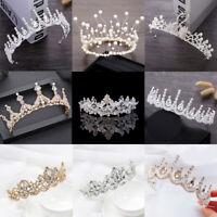 Trendy Light Gold Luxury Crystal Diadem Tiaras Wedding Tiaras Bridal Crown