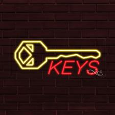 Brand New Keys Withlogo 32x13x1 Inch Led Flex Indoor Sign 30084
