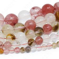 "Natural Gemstone Beads Round 4mm 6mm 8mm 10mm 12mm 15.5"" Strand"