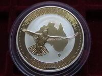 Australia. 2002  2 oz - Silver Kookaburra ($2)..  BU  - In capsule