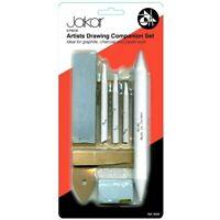 Jakar Artists Drawing Companion Set 9 Piece Tortillon Stump Putty Rubber - 9028