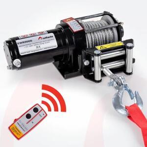 ROTFUCHS® Elektrische Seilwinde 12V 1360KG Elektrowinde Motorwinde Offroadwinde