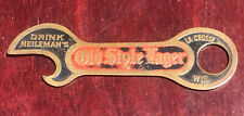 Black & Red Heileman's Old Style Pre-Prohibition Beer Bottle Opener Church Key