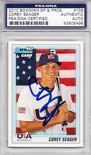 2010 Bowman Draft #BDPP108 Corey Seager RC PSA/DNA Signed Auto Dodgers ROY 496