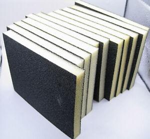 X10 FOAM SANDING PADS  80 GRIT  Wet & Dry Sandpaper Sponge Blocks black