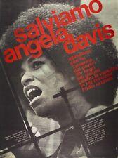 AD droits civils USA sauver Angela Davis italien question Poster Art Print LLF0508
