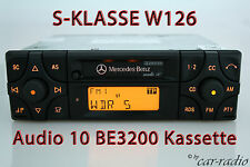 Original Mercedes audio 10 be3200 casete w126 clase s c126 becker autorradio