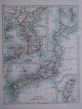 1918 MAP KOREA PORT ARTHUR & ENVIRONS ~ JAPAN YEZO HONDO FORMOSA