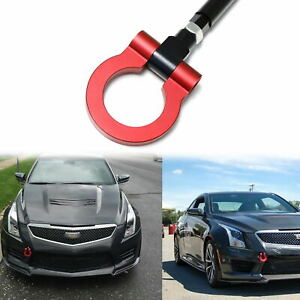 For Cadillac XLR 2006-2009 Track Racing Style Anodized Aluminum Tow Hook Set RED