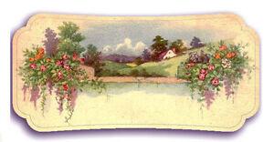 """Waterslide Decals (4pcs 2.5""""x3.5"""") FLONZ 412-0344 Vintage Autumn Landscape"""