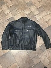Men's 2XL Budweiser Official Product Embroidered Leather Motorcycle Jacket