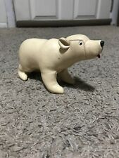 "VTG Tomi Japan 10"" Stitched Kid Glove Leather Stuffed Polar Bear Plush Figure"