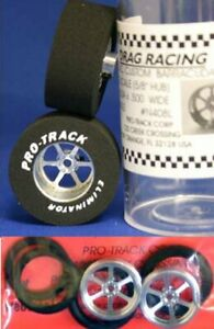 """Pro Track """"Roadster"""" 1 3/16"""" x .500 wd Matching Rr & Ft Drag 1/24 Slot Car Tire"""