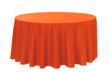 """Catering Quality x-hire Tablecloth 54""""x54"""" SQUARE Wedding BRIGHT ORANGE marks"""