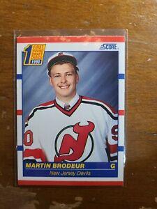 MARTIN BRODEUR 1990-91 SCORE ROOKIE #439 NEW JERSEY DEVILS