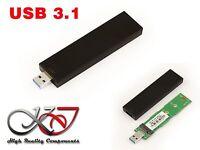 Boitier USB 3.1 (10G) M2 type clé USB -  Pour SSD M.2 NGFF SATA 2280 2260 2242