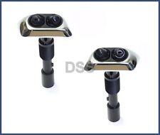 Genuine BMW E38 740i 740iL 750iL Left + Right Chrome Headlight Washer Nozzle OEM