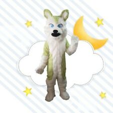 Halloween Fursuit Long Fur Fox Dog Mascot Costume Cosplay Unisex Xmas Suit