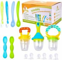 18Pc Baby Food Feeder Set Fresh Fruit Feeding Pacifier Soft Silicone Baby Spoons