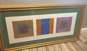 """Original Jan Richardson Baughman Pastel on Paper """"Three Times"""" Framed Matted"""