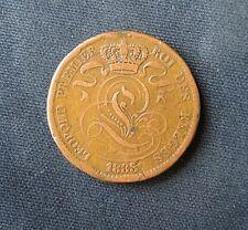 Munt België/Belgique: 10 CENTIMES 1833 (koper)