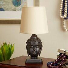 Buddha Table Lamp Oil Rubbed Bronze Desk Home Room Electric Desk Art Decor Bed