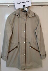 Women's Lauren Ralph Lauren Anorak Coat Hooded Jacket Clay/Tan Size XS