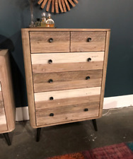 """43.5"""" T Dresser Chest Hand Crafted One of a Kind Hardwood Modern Contemporary"""