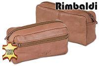 Rimbaldi® große Leder Schlüsseltasche mit Extrafach in Hellbraun