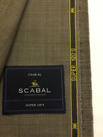 SCABAL Beige/Brown Pinhead Super 120's Wool Suit Fabric 240g -703289