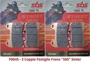 706HS - 2 Coppie Pastiglie Freno Anteriori SBS Sinter per Ducati SuperSport 1000