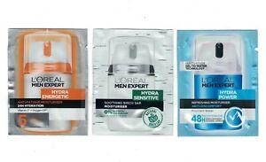 L'Oreal Men Expert Hydra Moisturiser Travel Sachets Skin Face Men Mens