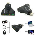 External Virtual7.1 Channel USB 2.0 3D Audio Sound Card Fr PC Tablet Mic Adapter