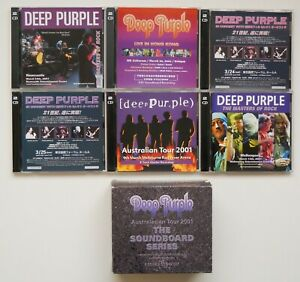 DEEP PURPLE AUSTRALASIAN TOUR 2001,THE SOUNDBOARD SERIES,12 CD SET,1 DISC FAULTY