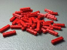 New LEGO Red Technic, Axle 2 Notched (LOT OF 50) 32062 - AUTHENTIC