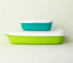 TUPPERWARE Brotdose Lunchbox Clevere Pause 590ml Limette mit Brotdose Einsatz