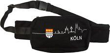 Tolle Bauchtasche ~ Köln Wappen - schwarz ~ Skyline Tasche Karneval Gürteltasche
