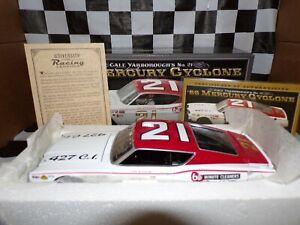Cale Yarborough #21 1968 Mercury Cyclone 1:24 University of Racing AUTOGRAPH