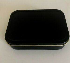 2oz Large Black Matt Metal Cigarette Tobacco Stash  Baccy Bait Tin Camping
