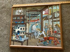 H. Hargrove The Toy Maker Framed Painting 1989