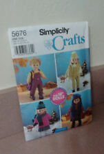 """Doll Clothes Pattern Simplicity 5676 for 18"""" Dolls Free Shipping"""