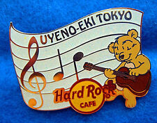 UYENO-EKI TOKYO MUSICAL NOTES SCORE MUSICIAN BEAR GUITAR Hard Rock Cafe PIN LE